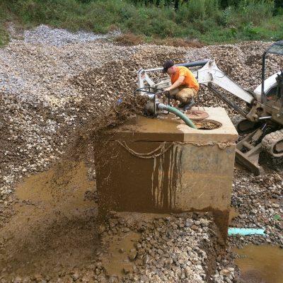 Pumping sludge